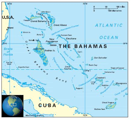 Geography in The Bahamas