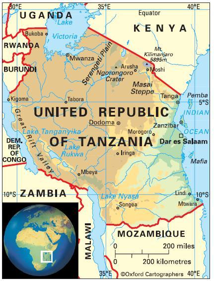 Education In United Republic Of Tanzania - Where is tanzania