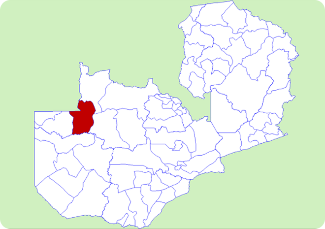 Map of Kapombo District, Zambia