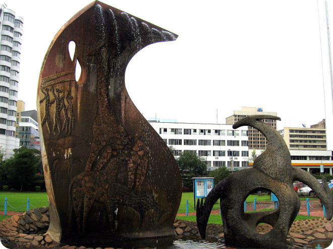 A modernistic wildlife scupture on the University of Nairobi campus