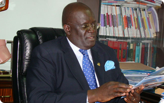 Vice-Chancellor,George Magoha in his office.