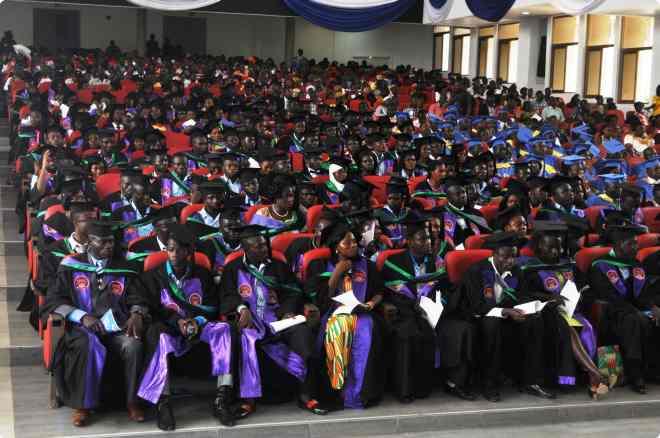 Students on graduation day