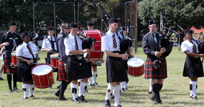 The Benoni High School Pipe Band