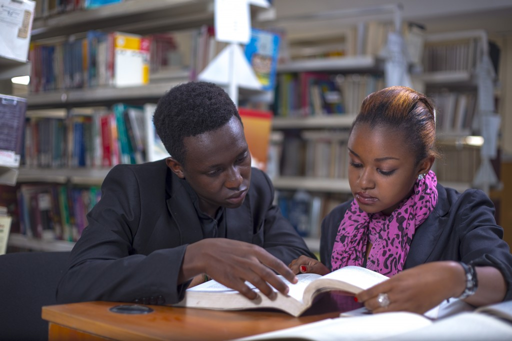 STUDENTS IN THE LIBRARY II
