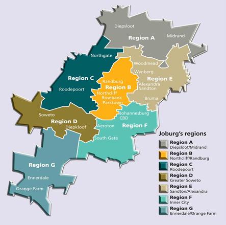 joburg-regions