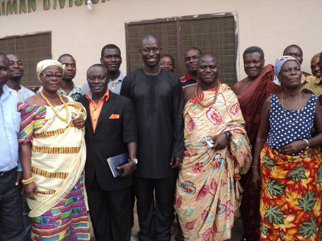 Municipal Chief Executive paid a working Visit to the Ashaiman Traditional Council 3