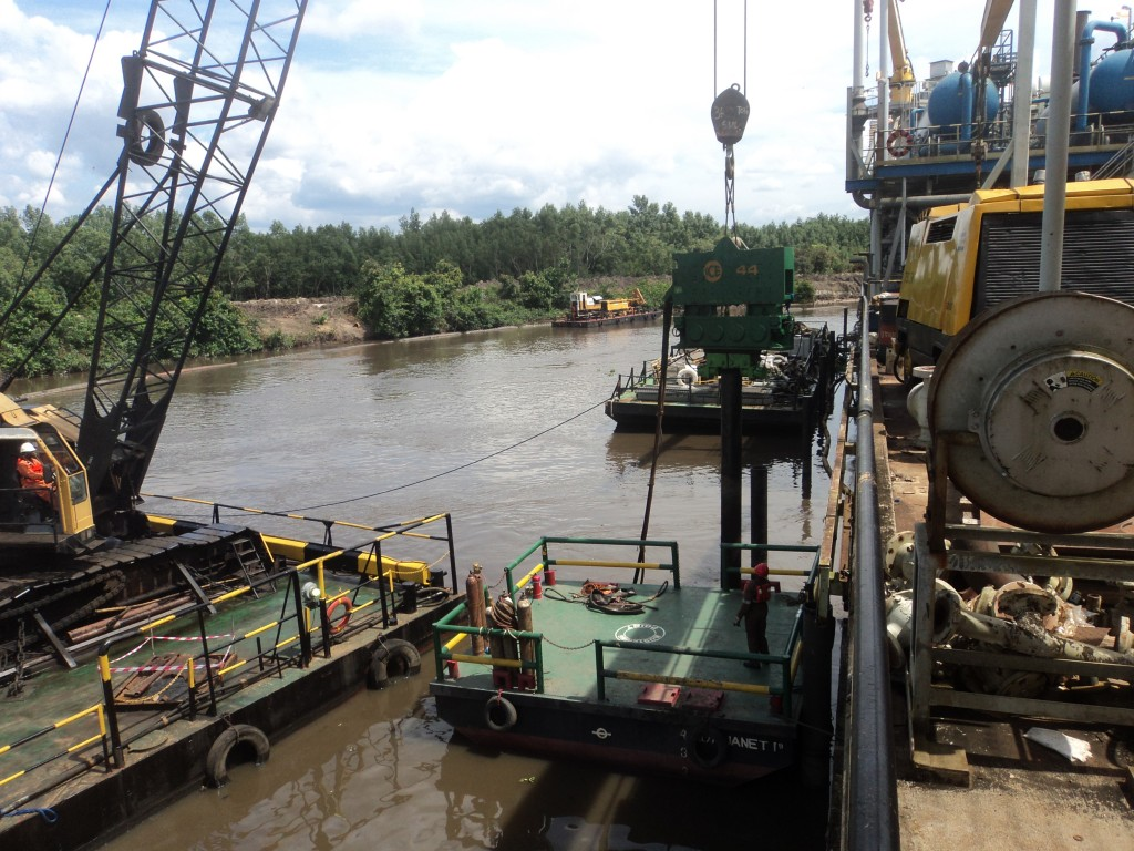 pile extraction activities-chevron nig.ltd-olero creek