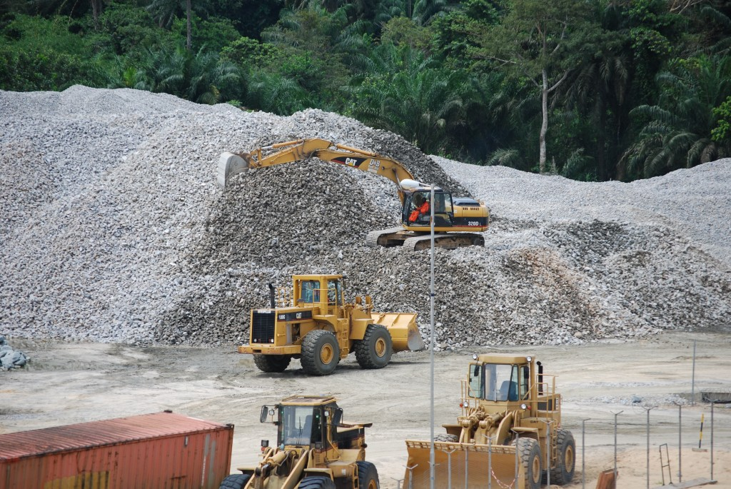 rock stock pile-riverbed&shoreline protection works(SPDC gbaran ubie project)