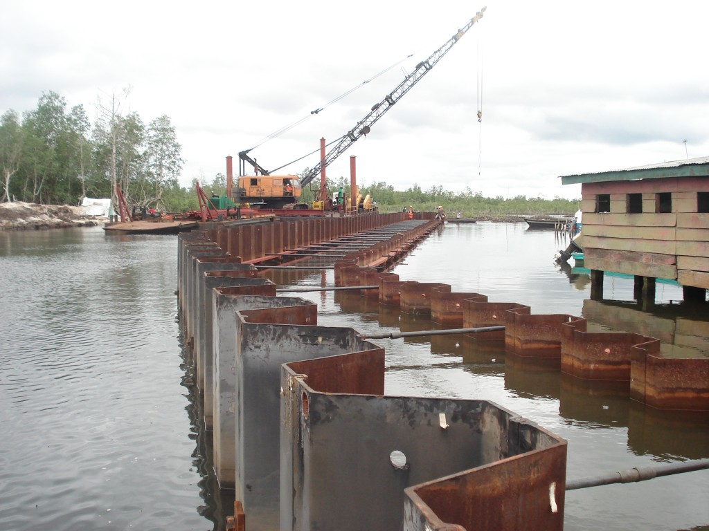shoreline protection&land reclamation-NDDC soku project